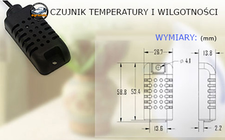 czujnik temperatury i wilgotności am2301 egrando