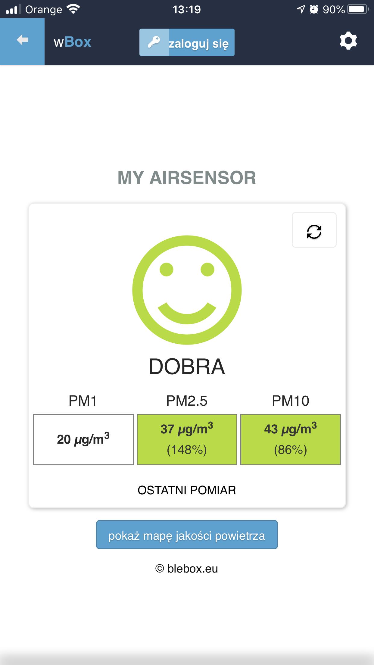 aplikacja airsensor egrando