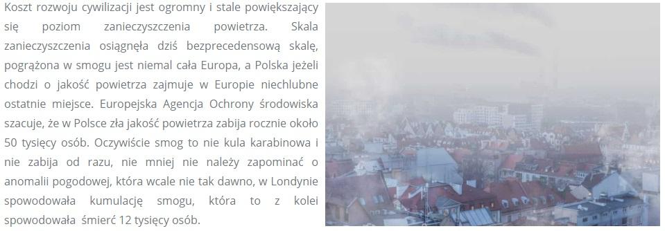 smog w polsce egrando