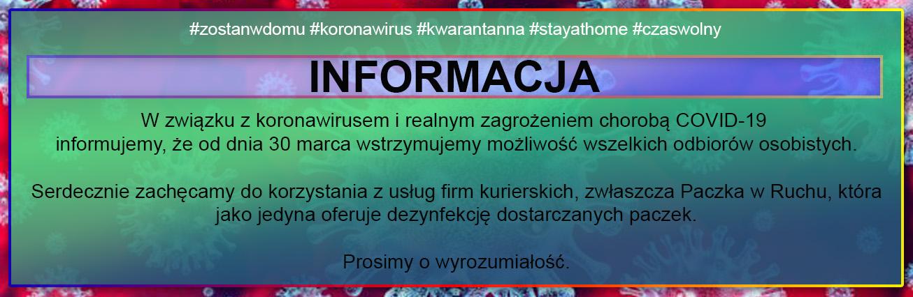 INFORAMACJA EGRANDO KORONAWIRUS